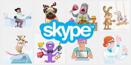 Skype Mojis and emojis